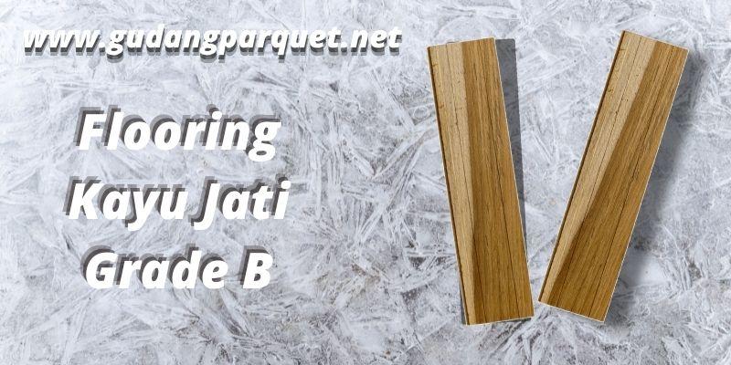 flooring jati grade B