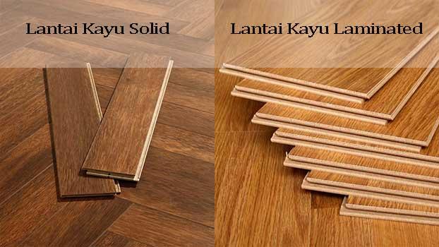 lantai kayu solid dan laminated