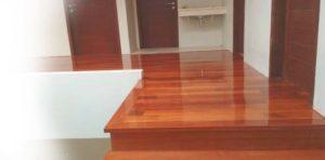 lantai kayu solid terpasang