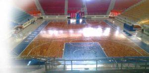 lantai kayu lapangan basket