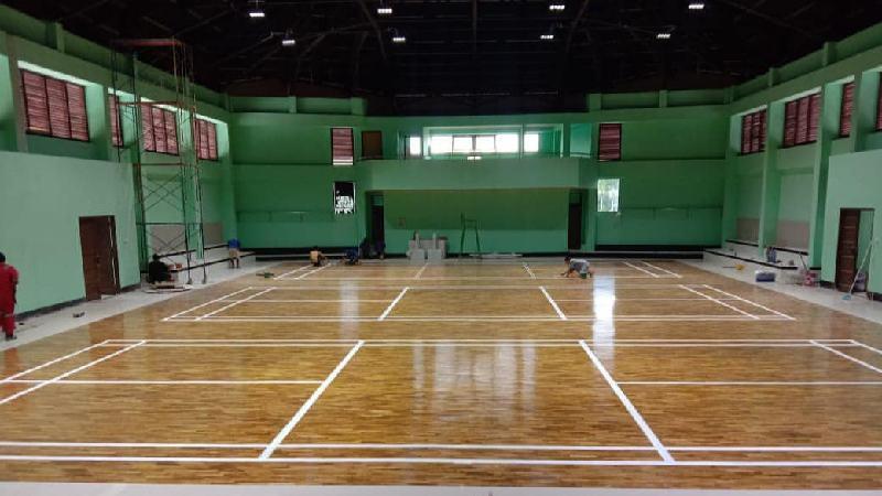 lantai kayu untuk lapangan basket