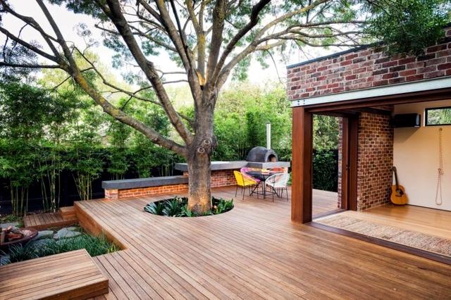 kayu untuk halaman rumah