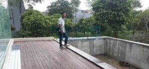 pool deck kayu