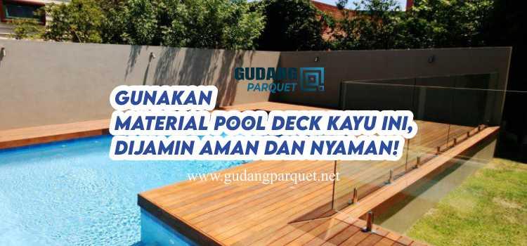 pool deck kayu