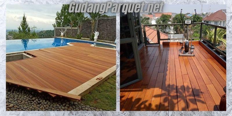 manfaat kayu bengkirai - untuk pembuatan lantai kayu outdoor
