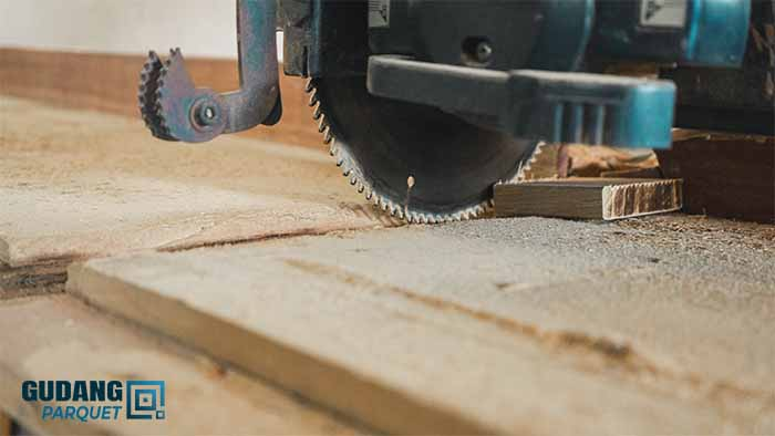 proses pengolahan lantai kayu