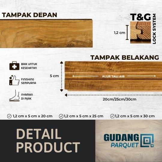 detail produk parket kayu jati grade A